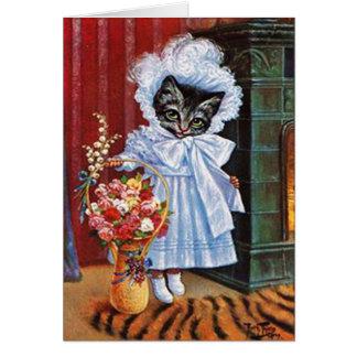 Vintage Cat Card, Arthur Thiele Card
