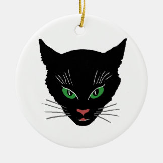 Vintage Cat Ceramic Ornament