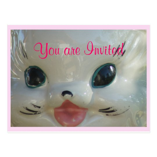Vintage Cat cookie jar 2972- customize it Postcard