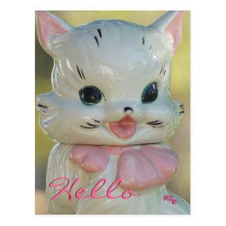 Vintage Cat Cookie Jar Postcard- customize Postcard