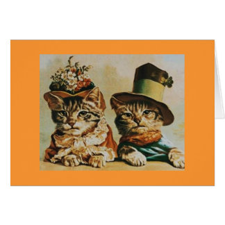 Vintage Cat Couple Anniversary Greeting Cards