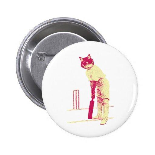 vintage cat cricketer pins
