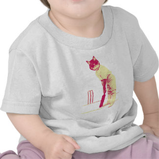 vintage cat cricketer t-shirt