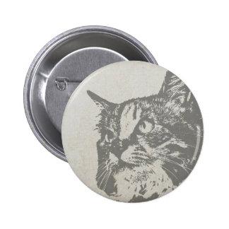 Vintage cat design button