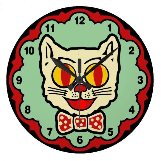 Vintage Cat Design Wall Clock