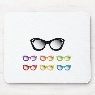 Vintage cat eye eye wear for ladies mouse pad