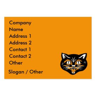 Vintage Cat Face Business Card Template