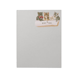 Vintage Cat Family 11 x 8.5 Notepad