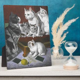 Vintage Cat Family Plaque