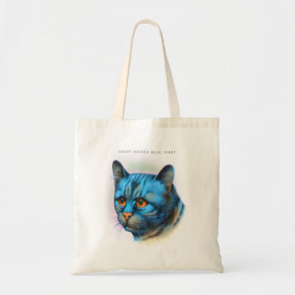 Vintage Cat Kitten Rare Blue Haired Tabby Canvas Bags