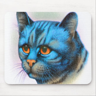 Vintage Cat Kitten Rare Blue Haired Tabby Mouse Pad