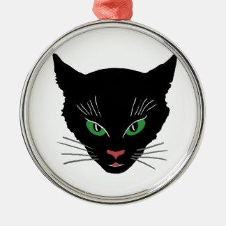 Vintage Cat Metal Ornament