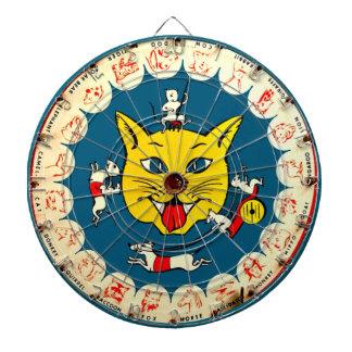 Vintage Cat Mice Toy Dart Game Kids Room Dartboards