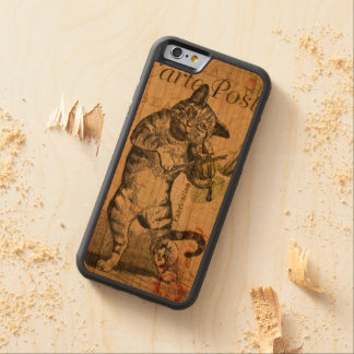 Vintage Cat Playing a Violin Carved® Cherry iPhone 6 Bumper Case