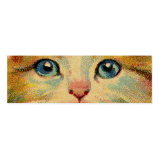 Vintage Cat Portrait Double-Sided Mini Business Cards (Pack Of 20)