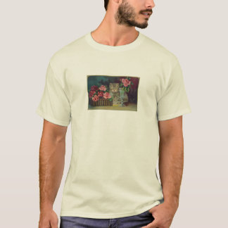 Vintage Cat Postcard T-shirt
