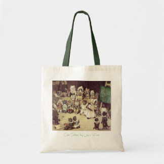 Vintage Cat School Budget Tote Bag