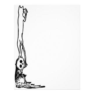 Vintage Cat, Skull & Owl Letterhead