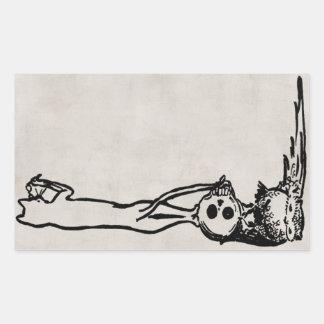 Vintage Cat, Skull & Owl Sticker