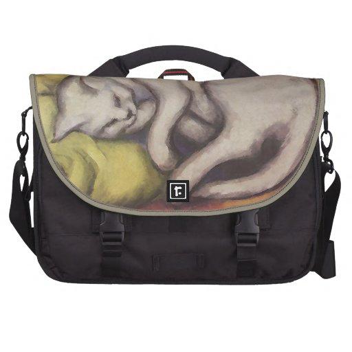 Vintage Cat Sleeping Computer Bag