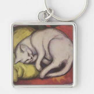 Vintage Cat Sleeping Key Chain