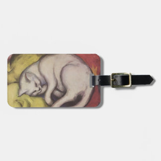 Vintage Cat Sleeping Tags For Luggage