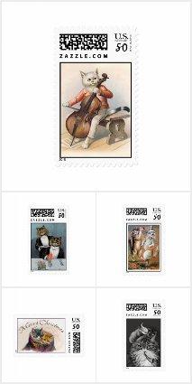 Vintage Cat Stamps