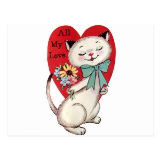 Vintage-Cat-Valentine-GraphicsFairy. Postcard