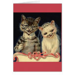 Vintage Cat Wedding Greeting Card