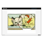 Vintage Cat with Fish Bowl Skins For Laptops