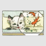 Vintage Cat with Fish Bowl Stickers