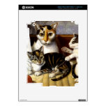 Vintage Cat with Kittens iPad 3 Decal