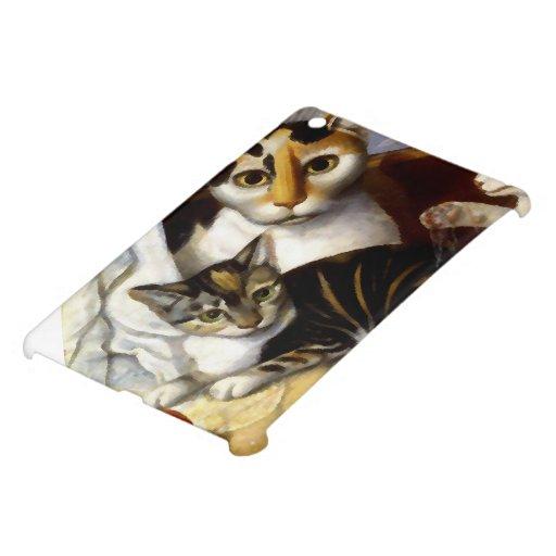 Vintage Cat with Kittens iPad Mini Cases