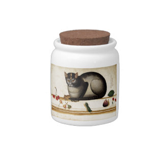Vintage Cat with Mouse Candy Dishes