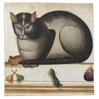 Vintage Cat with Mouse Cloth Napkin