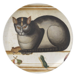 Vintage Cat with Mouse Dinner Plate