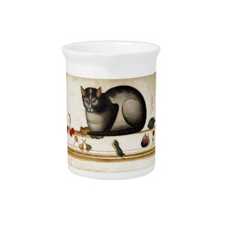 Vintage Cat with Mouse Drink Pitcher