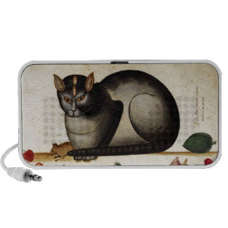 Vintage Cat with Mouse iPod Speakers