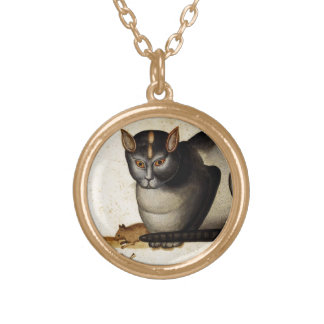 Vintage Cat with Mouse Pendant