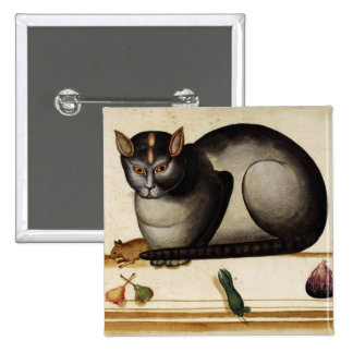 Vintage Cat with Mouse Pinback Button