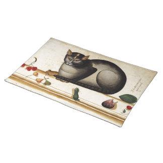 Vintage Cat with Mouse Place Mat