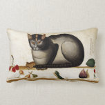 Vintage Cat with Mouse Throw Pillows