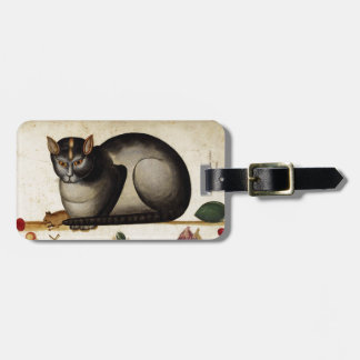 Vintage Cat with Mouse Travel Bag Tag