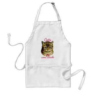 Vintage Cat with Pink Bow Adult Apron