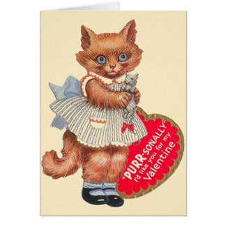 Vintage Cat With Toy Mouse Valentineu0026#39;s ...