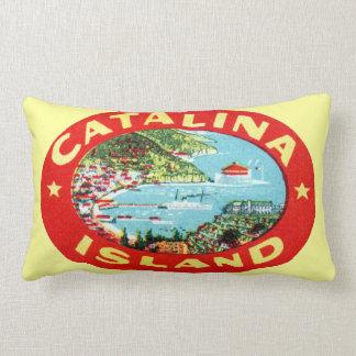 Vintage Catalina Island California Lumbar Pillow