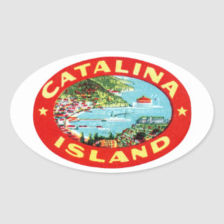 Vintage Catalina Island California Oval Sticker