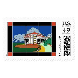 Vintage Catalina Island Casino Mural Stamp