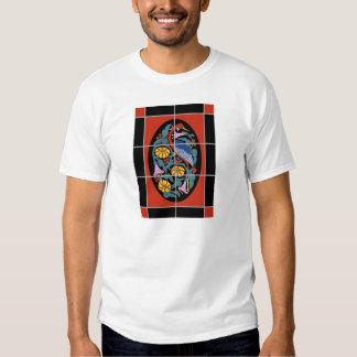 Vintage Catalina Island Fantasy Crane Tile Design T Shirt