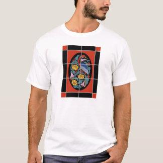 Vintage Catalina Island Fantasy Crane Tile Design T-Shirt